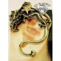 Пирсинг Ear cuffs (кафф) Дракон с извивающимся хвостом производства Гонконг