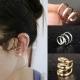 Ear cuffs (кафф) Трио-люкс цвет золото