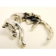 Серьга-фейк кот цвет серебро, шт.