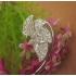 Ear cuffs (кафф) Алмазные листья фото пирсинг 1