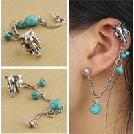 Ear cuffs (кафф) Слон, цвет серебро