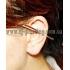 Ear cuffs (кафф) Пронзающий конус фото пирсинг 1