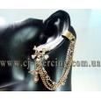 Ear cuffs (кафф) Череп с крестом в кристаллах