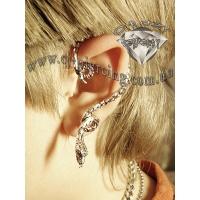 Пирсинг Ear cuffs (кафф) Змейка свисающая производства Гонконг