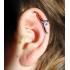Ear cuffs (кафф) Виток с камнем 541 - мед. сталь покрытие серебро фото пирсинг 2