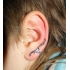 Ear cuffs (кафф) Виток с камнем 541 - мед. сталь покрытие серебро фото пирсинг 1