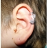 Ear cuffs (кафф) Виток с камнем 537 - мед. сталь покрытие серебро фото пирсинг 1