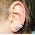 Ear cuffs (кафф) Виток с камнем 537 - мед. сталь покрытие серебро фото пирсинг 2