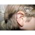 Ear cuffs (кафф) Змейка белая фото пирсинг 3