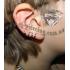 Ear cuffs (кафф) Змейка белая фото пирсинг 2