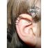 Ear cuffs (кафф) Змейка белая фото пирсинг 1