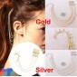 Ear cuffs (кафф) Конус на дуге с цепочками и гребнем в волосы