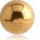 Шарик мед. сталь 1,2 мм покрытие золото 18 к. / разные размеры