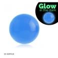 Шарик UV светонакопительный 1,2*4 / разные цвета