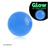 Пирсинг Шарик UV светонакопительный для харда (без резьбы) 4 мм / разные цвета производства Thailand