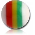 Шарик UV  1,6 *6 радуга белый