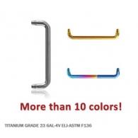 Скоба 1,6 мм для плоскостного пирсинга титан основа / разные размеры