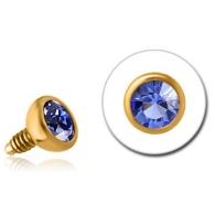 Накрутка 1,2 мм покрытие золото 18 карат шарик с камнем 3 мм /разные цвета