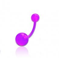 Пирсинг пупка банан классик UV - шарики UV /разные цвета