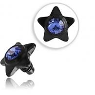 Накрутка 1,6 мм звездочка с камнем титан черный 3,5 мм/ разные цвета