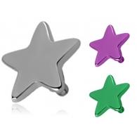 Накрутка 1,6 мм звезда титан 4 мм / разные цвета
