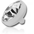 Накрутка 1,6 мм биофлекс диск с камнем 4,5 мм/ разные цвета