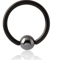 Хард 1,2 мм титан черный шарик гематит / 1,2*12*4