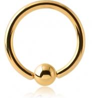 Хард 1,2 мм мед. сталь покрытие золото 18 к. / 1,2*10*4 мм