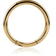 Хард 1,6 мм мед. сталь покрытие золото 18 карат сегмент / 1,6*9