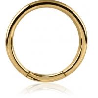 Пирсинг Хард 1,6 мм мед. сталь покрытие золото 18 карат сегмент / 1,6*9 производства Thailand