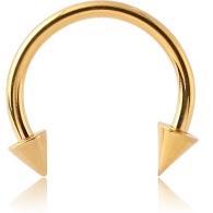 Циркуляр 1,2 мм покрытие золото 18 карат конус / размеры