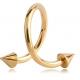 Спираль 1,2 мм покрытие золото 18 к.  КОНУС / 1,2*10*4Х4
