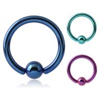 Пирсинг Хард 2,5 мм титан шарик титан / 2,5*12,7*6 / разные цвета производства Thailand