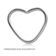 Хард 1,0 мм титан сердце / 1,0*12
