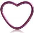 Хард 1,2 мм титан анодированный сердце / 1,2*12 разные цвета