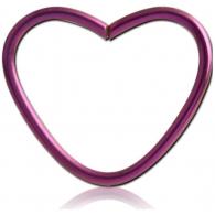 Хард 1,0 мм титан анодированный сердце / 1,0*12 разные цвета