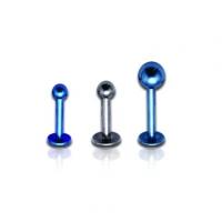 Пирсинг Лабрет 1,6 мм титан шарик / 1,6*12*3 / разные цвета производства Thailand