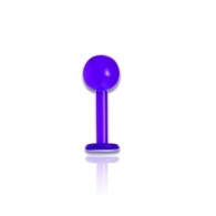 Лабрет 1,2 мм UV гнется / разные цвета / 1,2*8*3