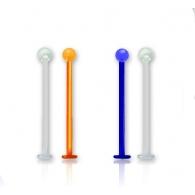 Лабрет 1,6 мм биофлекс с шариком  / 1,6*18*4 / разные цвета