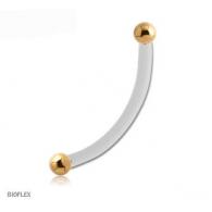 Микробанан 1,2 мм биофлекс шарики покрытие золото 18 карат / разные размеры