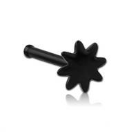 Пирсинг Гвоздик в нос черная медицинская сталь Солнце 0,8*6,5  производства Thailand