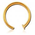 Кольцо в нос покрытие золото 18 карат 1.2 мм / размеры