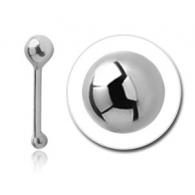 Гвоздик в нос серебро  0,5*6,5 шарик