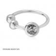 Обманка кольцо серебро с камнем завальцовка 0,8*6 мм