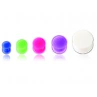 Плаг силиконовый светонакопительный 18 мм / разные цвета