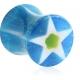 Плаг акриловый звездочка 08 мм / разные цвета