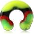 Циркуляр (подкова) силикон 8 мм / разные цвета фото пирсинг 13