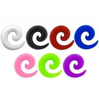 Спираль силикон 08 мм / разные цвета
