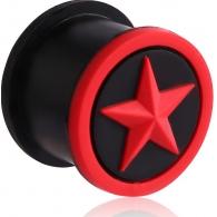 Плаг силикон звезда 10 мм / разные цвета