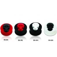 Плаг силиконовый череп 14 мм / разные цвета